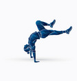street dance b boys dance hip hop exercise yoga vector image vector image