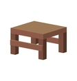 table wooden furniture vector image