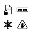 top electronic security simple related icons vector image vector image
