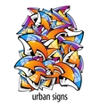 urban signs colorful abstract background vector image