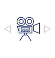 video camera icon vector image vector image