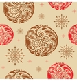 Vintage seamless texture with circles of leaf vector image vector image