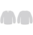 vneck sweater template vector image vector image