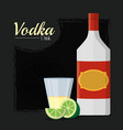vodka alcohol drink vector image vector image