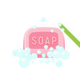 wash soap icon flat style vector image vector image