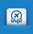website travel agency icon vector image vector image