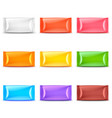 wide food packaging colorful template 3d set vector image vector image
