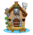 witches hut cartoon of a house sorceress drawing vector image vector image