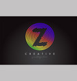 y letter logo design with colorful rainbow vector image vector image