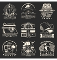 Detective Story Labels Set vector image