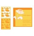 Cards collection floral design vector image