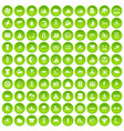 100 water recreation icons set green circle vector image vector image