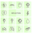 14 reflection icons vector image vector image
