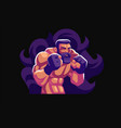 a male fighter mixed martial arts vector image vector image