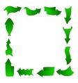 abstract arrows frame green vector image