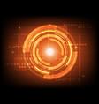 abstract orange circle digital technology vector image