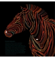 Animal of zebra silhouette vector image vector image