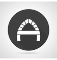 Arch with partition black round icon vector image vector image
