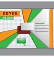 Background concept for horizontal flyer vector image vector image