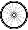 bike wheel black silhouette vector image
