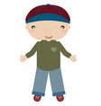 boy with cap vector image vector image
