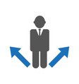 business strategy or decision making concept vector image