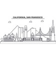 california san francisco architecture line vector image vector image