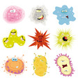 cartoon germs virus and microbes vector image