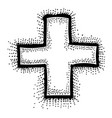cartoon image medical cross vector image vector image