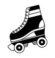 Classic roller skate laced wheels retro fashion