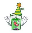 clown green smoothie mascot cartoon vector image vector image