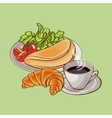 Colorful French Breakfast Template vector image vector image