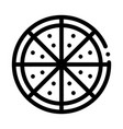 cut pizza icon outline vector image vector image