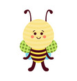 cute cartoon bee baby toy colorful vector image vector image