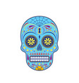 decorative colorful sugar skull vector image