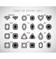 Diamond and gemstone shape set vector image