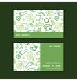 ecology symbols horizontal stripe frame pattern vector image vector image