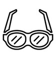 eye glasses icon outline style vector image