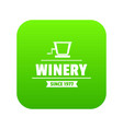 factory old winery icon green vector image vector image
