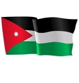 flag of Jordan vector image vector image
