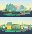 Flat design nature landscape vector image vector image