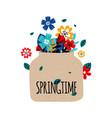 flowers bouquet springtime concept vector image vector image