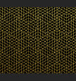 geometric abstract pattern gold background vector image vector image