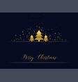 golden christmas tree premium greeting vector image vector image