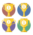 Golden Cups vector image