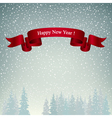 Happy New Year Landscape in Gray Shades vector image vector image