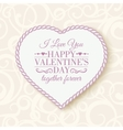 Happy Valentines Day - card vector image vector image