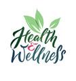 health and wellness studio logo stroke vector image vector image