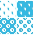Ice cream patterns set vector image