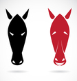 image of an horse mask vector image vector image